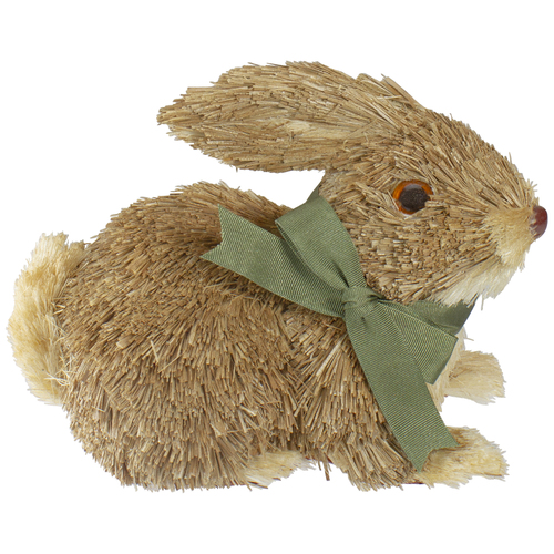 "8"" Brown Sisal Bunny Rabbit Easter Figure - IMAGE 1"