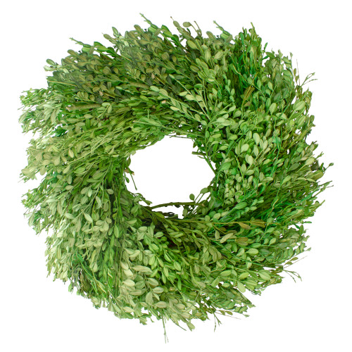 Green Foliage Artificial Spring Wreath, 15-Inch - IMAGE 1