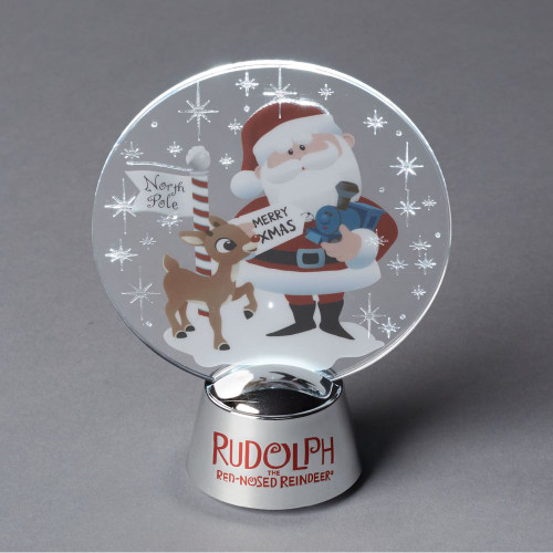 Department 56 Rudolph and Santa Christmas Holidazzler #6000498 - IMAGE 1