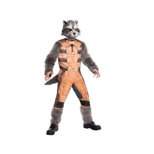 "Orange and Grey ""Rocket Raccoon"" Child Halloween Costume - S - IMAGE 1"