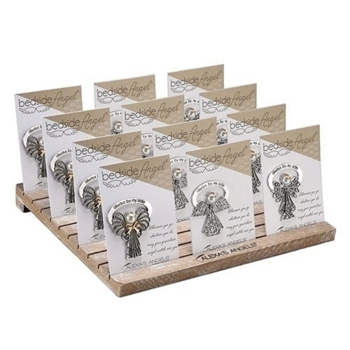 36 PC Alexa's Angel Bedside Angel Pins with Display Stand - IMAGE 1