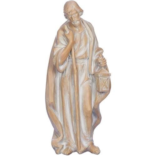 "35"" Beige and Ivory Standing Joseph Christmas Figurine - IMAGE 1"