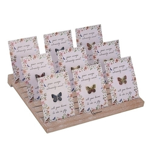 36 Piece Set of Butterfly Pins with Display Stand - IMAGE 1