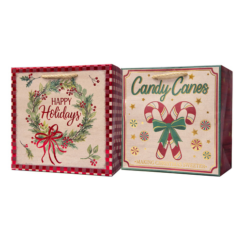 Pack of 6 Assorted Small Christmas Gift Bags with Handle - IMAGE 1