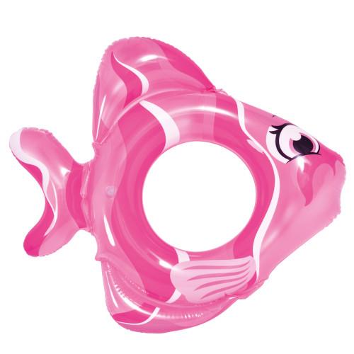 "31"" Pink Inflatable Fish Children's Swim Ring Tube Float - IMAGE 1"