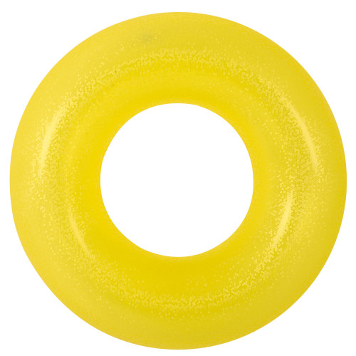 "35"" Yellow Inflatable Inner Tube Pool Float - IMAGE 1"
