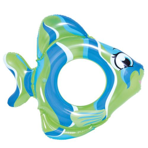"31"" Green Inflatable Fish Children's Swim Ring Tube Float - IMAGE 1"