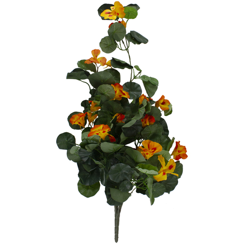 "30"" Orange Nasturtium Artificial Flower Spray - IMAGE 1"