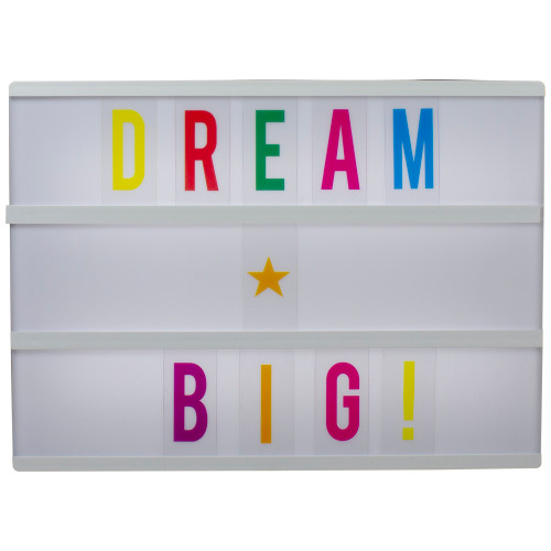 """12"""" LED Lighted Cinema Light Box with Letters and Numbers - IMAGE 1"""