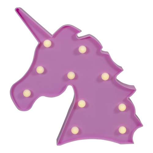 """10"""" LED Lighted Pink Unicorn Marquee Wall Sign - IMAGE 1"""