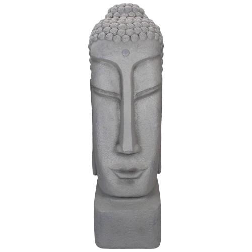 "23.25"" Large Buddha Head Outdoor Garden Statue - IMAGE 1"