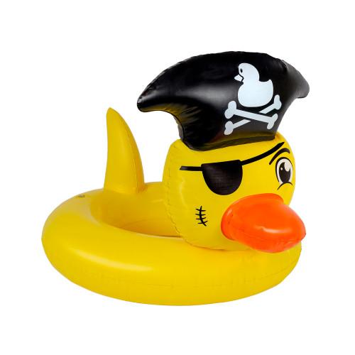 "22"" Yellow Pirate Duck Swimming Pool Inner Tube Float - IMAGE 1"