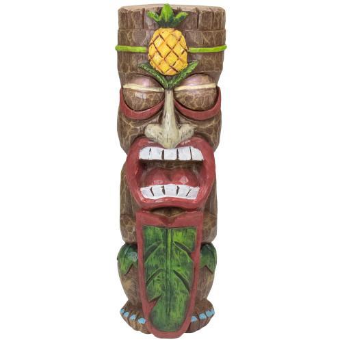 """16"""" Solar Lighted Polynesian Outdoor Garden Tiki Statue - IMAGE 1"""
