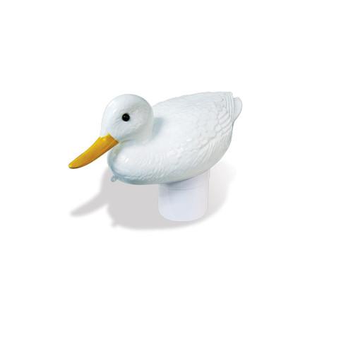 "16"" White Duck Floating Swimming Pool Chlorine Dispenser - IMAGE 1"