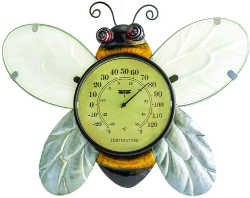 """16"""" Bumble Bee Outdoor Garden Wall Thermometer - IMAGE 1"""