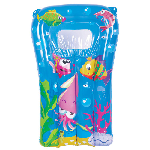 """29"""" Blue and Pink Sea World Inflatable Children's Kickboard - IMAGE 1"""