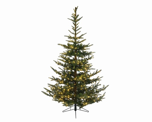 9' Pre-Lit LED Everlands Nobilis Fir Artificial Christmas Tree - Warm Clear Lights - IMAGE 1