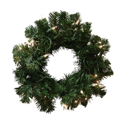"""10"""" Pre-Lit Deluxe Windsor Pine Artificial Christmas Wreath - Clear Lights - IMAGE 1"""