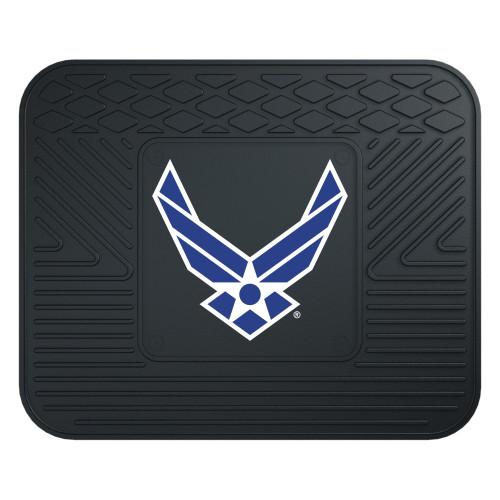 "14"" x 17"" Black NBA U.S. Air Force Heavy Duty Rear Car Seat Utility Mat - IMAGE 1"