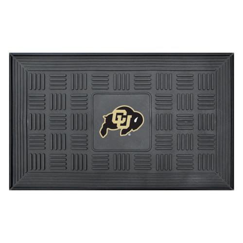 "19.5"" x 31.25"" Black NCAA University of Colorado Buffaloes Medallion Outdoor Door Mat - IMAGE 1"