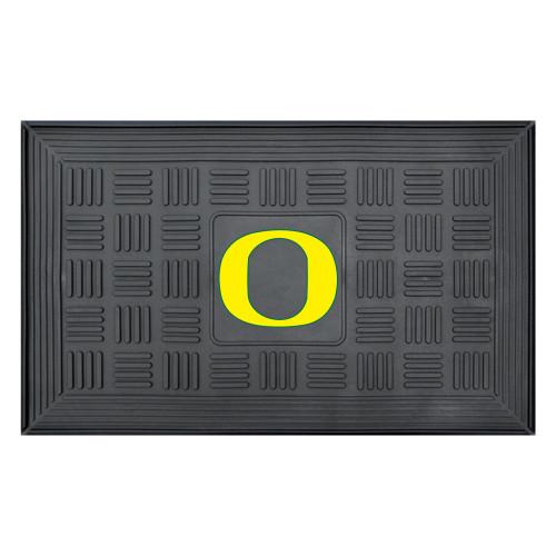 """19.5"""" x 31.25"""" Black and Yellow NCAA University of Oregon Ducks Outdoor Door Mat - IMAGE 1"""