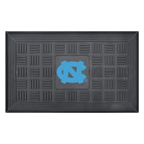 "19.5"" x 31.25"" Black and Blue NCAA University of North Carolina Outdoor Door Mat - IMAGE 1"