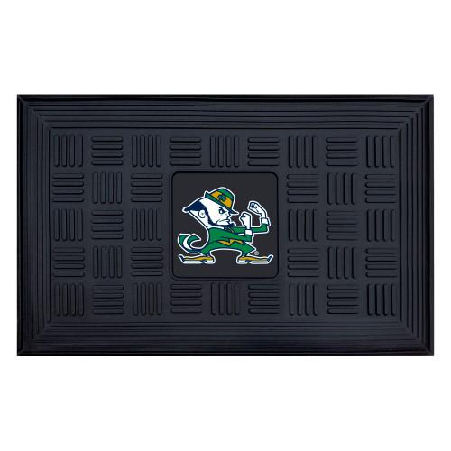 """19.5"""" x 31.25"""" Black and Green NCAA Notre Dame Fighting Irish Outdoor Door Mat - IMAGE 1"""