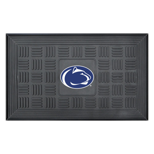 """19.5"""" x 31.25"""" Black and Blue NCAA Penn State Nittany Lions Outdoor Door Mat - IMAGE 1"""
