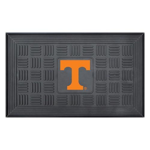 """19.5"""" x 31.25"""" Black and Orange NCAA University of Tennessee Volunteers Outdoor Door Mat - IMAGE 1"""