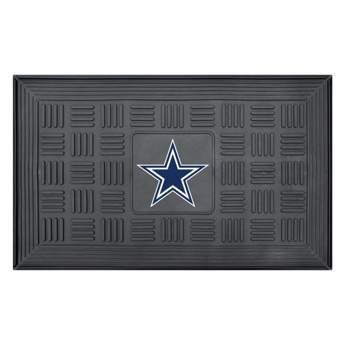 "19.5"" x 31.25"" Blue NFL Dallas Cowboys Star 3-D Team Medallion Doormat - IMAGE 1"