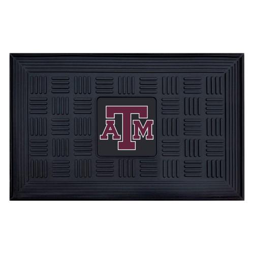 """19.5"""" x 31.25"""" Black and Brown NCAA University of Tennessee Volunteers Outdoor Door Mat - IMAGE 1"""