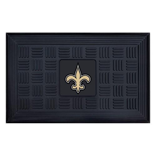 "19.5"" x 31.25"" Black and Gold NFL New Orleans Saints 3-D Team Medallion Doormat - IMAGE 1"