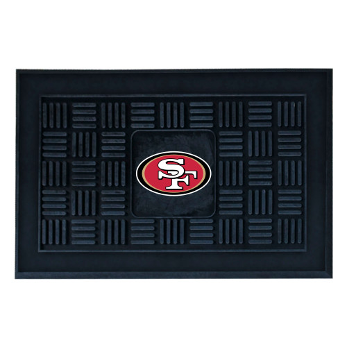 "19.5"" x 31.25"" Red Rectangular NFL San Francisco 49ers 3-D Team Medallion Doormat - IMAGE 1"