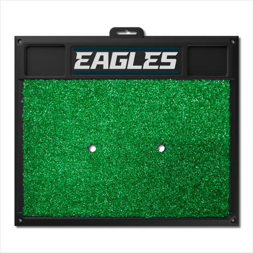 "20"" x 17"" Black and Green NFL Philadelphia ""Eagles"" Golf Hitting Mat Practice Accessory - IMAGE 1"