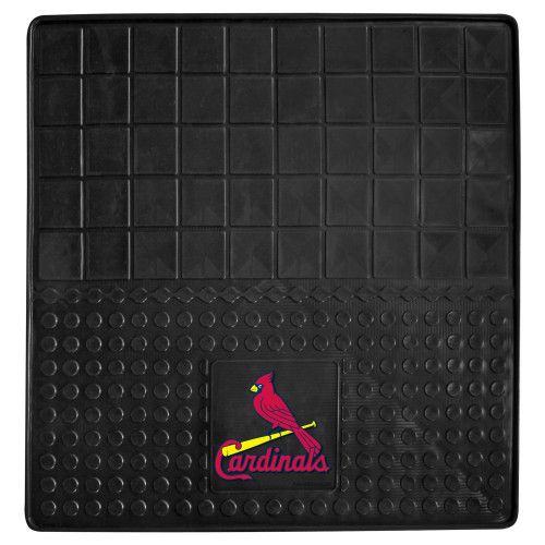 """31"""" x 31"""" Black and Red MLB St. Louis Cardinals Cargo Mat for Car Trunk - IMAGE 1"""