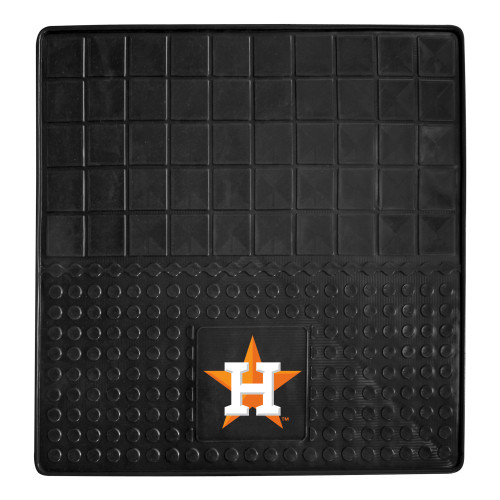 """31"""" x 31"""" Black and White MLB Houston Astros Cargo Mat for Car Trunk - IMAGE 1"""