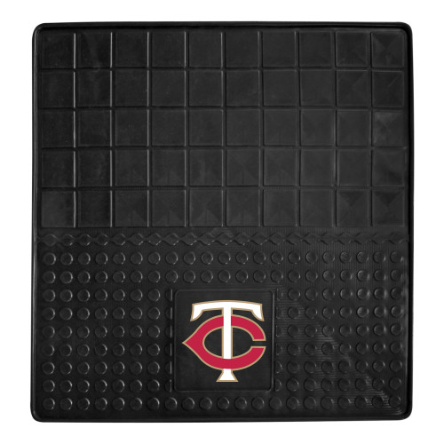 """31"""" x 31"""" Black and Red MLB Minnesota Twins Cargo Mat for Car Trunk - IMAGE 1"""
