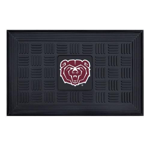 "19.5"" x 31.25"" Black NCAA Missouri State Bears Rectangular Door Mat - IMAGE 1"