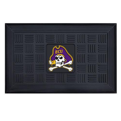 """19.5"""" x 31.25"""" Black and Purple NCAA East Carolina University Pirates 3D Team Rectangular Door Mat - IMAGE 1"""