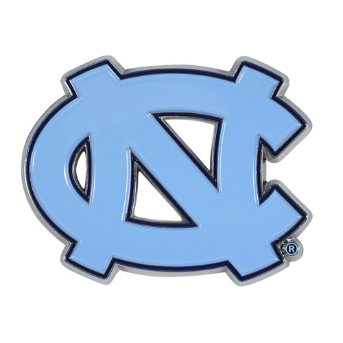 "Set of 2 Blue NCAA University of North Carolina Emblem Stick-on Car Decals 3"" x 3"" - IMAGE 1"