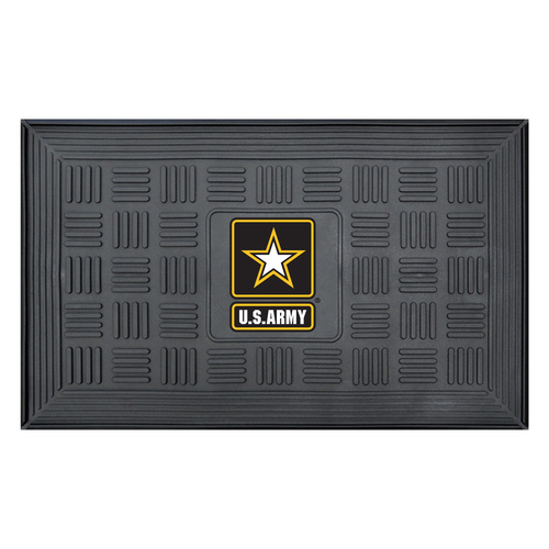 U.S. Army 3-D Team Medallion Vinyl Door Mat - IMAGE 1