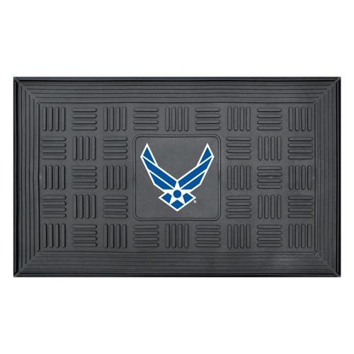 "19.5"" x 31.25"" Gray US Air Force 3-D Team Medallion Rectangular Door Mat - IMAGE 1"