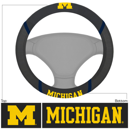 NCAA University of Michigan Wolverines Steering Wheel Cover Automotive Accessory - IMAGE 1