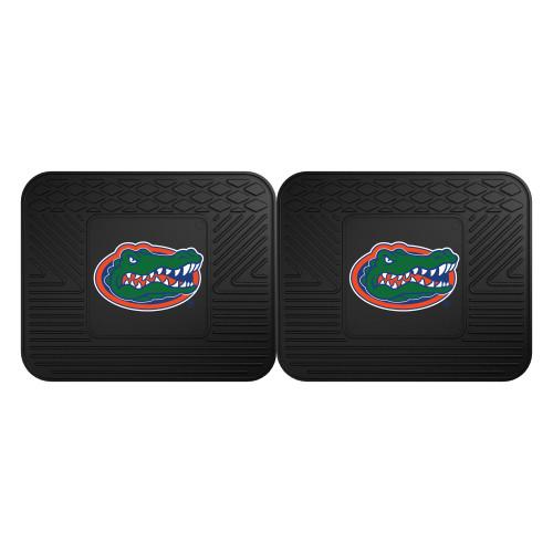 "Set of 2 Black and Green NCAA University of Florida Gators Heavy Duty Rear Car Floor Mats 14"" x 17"" - IMAGE 1"
