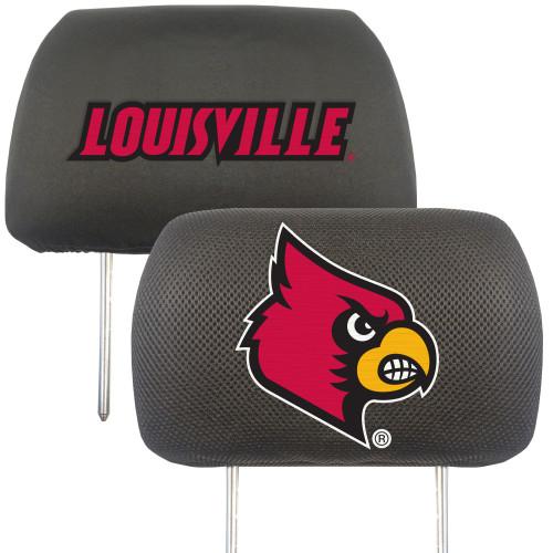 NCAA University of Louisville Cardinals Head Rest Cover Automotive Accessory - IMAGE 1