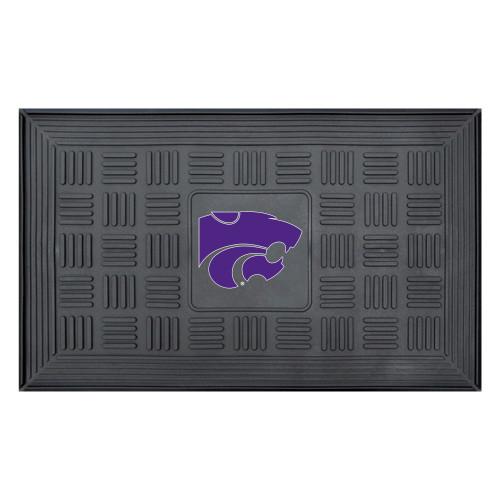 "19.5"" x 31.25"" Black and Red NCAA Kansas State University Wildcats 3D Team Rectangular Door Mat - IMAGE 1"