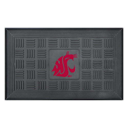 "19.5"" x 31.25"" Black and Red NCAA Washington State University Cougars 3-D Team Rectangular Door Mat - IMAGE 1"