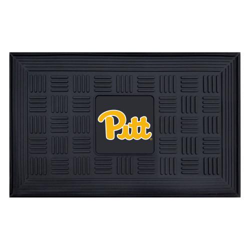 """19.5"""" x 31.25"""" Black and Yellow NCAA University of Pittsburgh Panthers 3-D Team Rectangular Door Mat - IMAGE 1"""