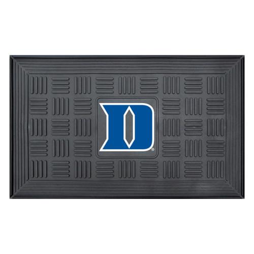 "19.5"" x 31.25"" Black and Blue NCAA Duke University Devils 3-D Team Medallion Door Mat - IMAGE 1"