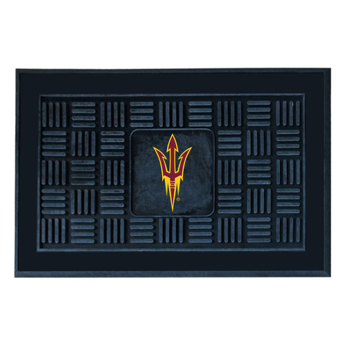 "19.5"" x 31.25"" Black and Red NCAA Sun Devils 3-D Team Medallion Doormat - IMAGE 1"